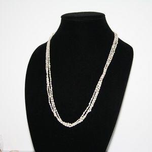Vintage natural pearl triple strand necklace